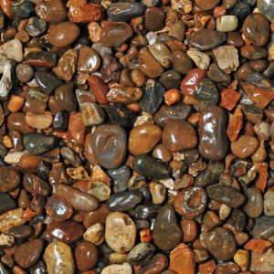 blue water pebbles